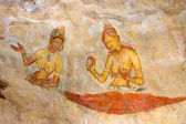 Ancient rock painting at Sigiriya, Sri Lanka — Stock Photo