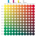 CMYK pattern C + M + 80Y - 0015 colour book — Stock Vector