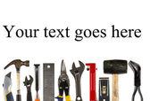 Werkzeuge mit exemplar — Stockfoto