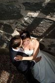 Evlilik çift romantik poz — Stok fotoğraf