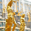 Stock Photo: Grand Cascade Fountains in Peterhof, Russia.
