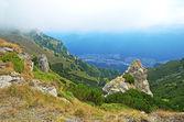 Paesaggio di montagna in transilvania, romania — Foto Stock