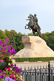 Monument of Russian emperor Peter I — Stock Photo