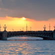 Stock Photo: Trinity Bridge in St. Petersburg, Russia