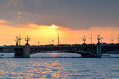 Trinity Bridge in St. Petersburg, Russia — Stock Photo
