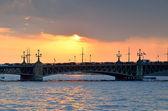 Trinity Bridge in St. Petersburg, Russia — Stock Photo
