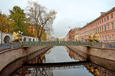 Griboyedov Canal and Bank bridge — Stock Photo