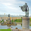 "Fountain ""Neptune"" in Peterhof, Russia - Stock Photo"