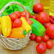 Vegetables on a wooden table - Stock Photo