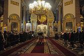 Cattedrale di Kazan in vacanze di Natale — Foto Stock