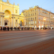 View of the Nevsky Prospect in evening illumination — Stock Photo