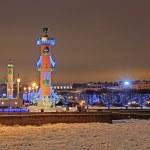 St-Petersburg, Russia in christmas illumination — Stock Photo