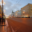 Saint Petersburg, Russia in the evening — Stock Photo