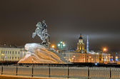 Saint Petersburg, Russia in the night — Stock Photo