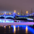 Trinity bridge in St Petersburg, Russia — Stock Photo