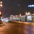 Nevsky Prospect in evening illumination — Stock Photo