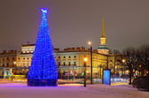 Christmas tree in Petersburg, Russia — Stock Photo