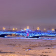 Trinity bridge in Petersburg, Russia - ストック写真