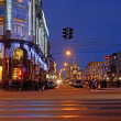 Nevsky Prospect in Petersburg, Russia — Stock Photo