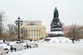 Monument to Catherine the Great in Petersburg, Russia — Stock Photo