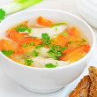 Chicken soup with vegetables — Foto de stock #21684217