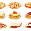 Set with pancakes - Stock Photo