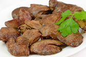 Close up cooked chicken liver — Stock Photo