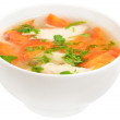 Stock Photo: Chicken soup with vegetables