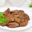 Stock Photo: Cooked chicken liver