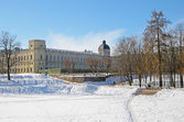 Gatchina Palace and park — Stock Photo