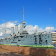 Cruiser Aurora in Petersburg, Russia. — 图库照片