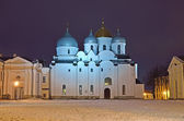 Cathedral of St. Sophia in Veliky Novgorod, Russia. — Stock Photo