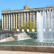 Stock Photo: Fountain complex on Moscow square in Petersburg, Russia.