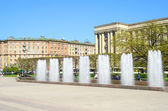 Fountain complex on Moscow square in Petersburg, Russia. — Stock Photo