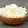 Cottage cheese in the bowl — Stock Photo