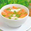 Chicken soup with vegetables — Stock Photo #28031827