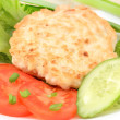 Stock Photo: Chicken cutlet with vegetables