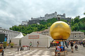 Kapitelplatz in Salzburg, Austria — Stock Photo