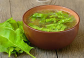 Sorrel soup — Stock Photo