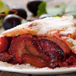Stock Photo: Strudel with plums