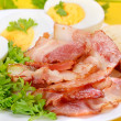 Breakfast with bacon and eggs — Stock Photo #33130525