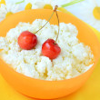 Fresh cottage cheese with cherry — Stock Photo #33130723