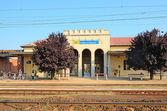 železniční stanice v hajdúszoboszló, maďarsko — Stock fotografie