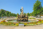 Undine-Brunnen fountain in Baden bei Wien — Stock Photo