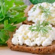 Stock Photo: Sandwiches with curd cheese