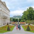 Постер, плакат: Mirabell gardens in Salzburg Austria