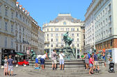 Donnerbrunnen fountain in Vienna, Austria. — Foto de Stock