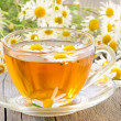 Cup of herbal tea — Stock Photo