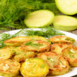 Fried zucchini with dill  — Stock Photo