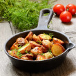 Roasted potato in a frying pan — Stock Photo #39711769